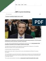 Facebook Privacy_ MEPs to Press Zuckerberg