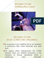 WELDING FCAW Arc Welding Flux Cored