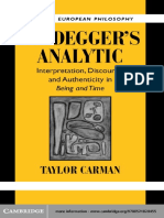 Taylor Carman-Heidegger's Analytic_ Interpretation, Discourse and Authenticity in Being and Time (Modern European Philosophy)-Cambridge University Press (2003).pdf