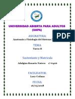 Tarea II Anatomia y Fisiologia Del Sistema Nervioso