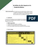 Reducción de Delitos de Alto Impacto en México