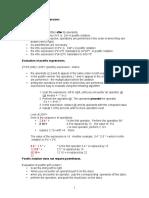 Infix and Postfix Expressions