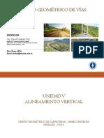 5.2 Diseño Vertical Curvas