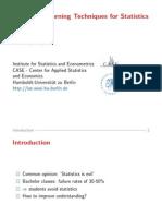 Modern e-Learning Techniques for Statistics