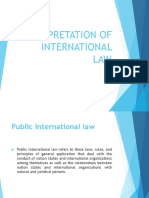 Interpretation of International Law