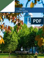 2015 16 Course Catalog