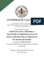 Enseñanza de La Historia a Traves Del Patrimonio Local en Educacion Infalntil