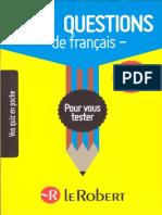 1000 Questions de Français Pour Vous Tester