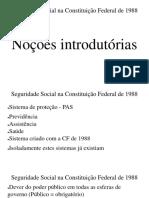 Seguridade Social Na Constituição Federal de 1988 - Aula 1.1