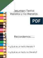 Texto Literario No Literario