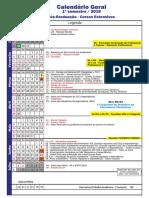 Calendário Pós - Claretiano 2018