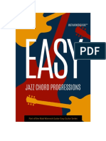 Easy Jazz Chord Progressions Sample
