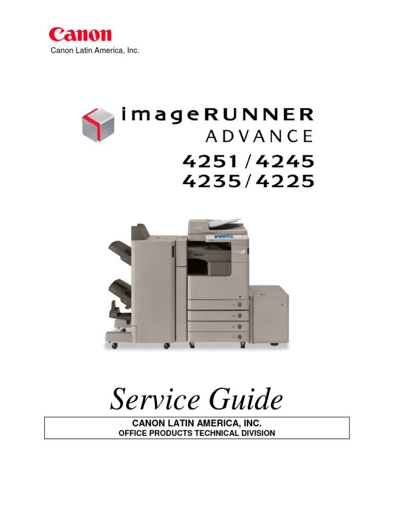 ImageRUNNER ADVANCE 4200 Series Service Guide - CLA-Eng | Usb Flash Drive |  Secure Digital