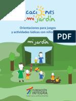Orientaciones Para Juegos y Actividades Ludicas Con Niños y Niñas 2015
