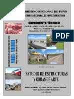 ESTUDIO DE ESTRUCTURAS Y OBRAS DE ARTE CARRETERA POMATA - YOROHOCO 2014