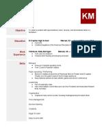 resume - kayla medina  2