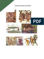 Actividades Que Hacían Los Aztecas
