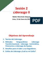 Sesión 2 Liderazo II