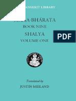 Mahabharata Book Nine Shalya Volume One the Clay Sanskrit Library
