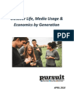 Outdoor Life, Media Usage & Economics by Generation