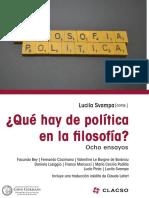 Lucila Svampa. ¿Qué hay de política en la filosofía?