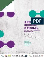 Assédio Sexual e Moral no local de trabalho em Portugal