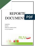 Reporte Documental Portada