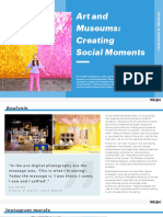 Art and Museums Creating Social Moments