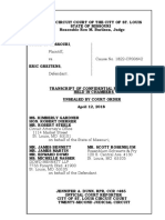 Transcript of confidential proceedings held in chambers unsealed by court order