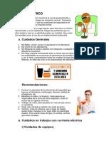 MARCO TEORICO D´ SEGURIDAD EN EL LABORATORIO - Quimica General - UNAC