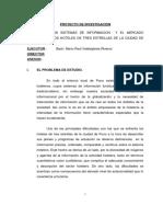 Proyecto de Tesis Sistemas Informacion y Mercado Turistico en Hoteles de Tres Estrellas Por Mario Raul Valdeiglesias.