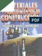 Materiales y Procedimientos de Construcción Mecánica de Suelos y Cimentaciones