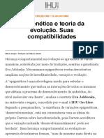 IHU Online - Epigenética e teoria da evolução. Suas compatibilidades.pdf