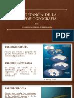 Importancia de La Paleobiografía - Ing Percy Torres