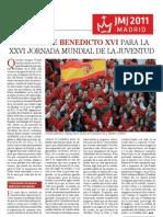 Mensaje Benedicto XVI JMJ Madrid 2011