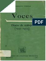 VOCES Diario de Trabajo Rodolfo Usigli
