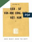 (1965) Lịch Sử Văn Học Công Giáo Việt Nam - Võ Long Tê