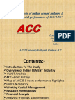 Analysis & Financial Performnce of Acc
