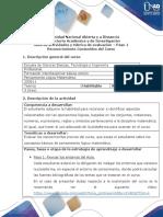 Desarrollo Dee Actividades y Rúbrica de Evaluación Paso 1 – Reconocimiento Contenidos Del Curso