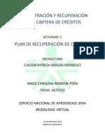 Administración y Recuperación de La Cartera de Créditos