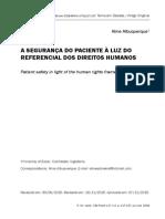 A segurança do paciente à luz do referencial dos direitos humanos