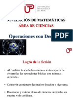 Semana 2 Sesi-n 1 - Operaciones Con Decimales PPT