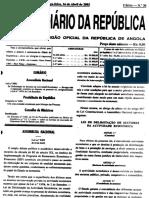 Lei 5 Da Delimitação de Sectores 2002