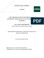 PROGRAMA PARA EL DESARROLLO de LA Inteligencia Emocional en Conservatorios de Musica