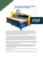 Máquina de Corte Por Chorro de Agua CNC