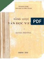 Bản Lược Đồ Văn Học Việt Nam - Thanh Lãng