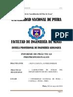 1. Informe de Laboratorio de Suelos - Practicas Preprofesionales