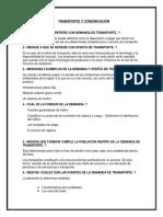 Transporte y Comunicacion Investigacion