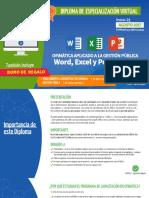 Diploma de Especializacion Ofimatica Aplicado a La Gestion Publica