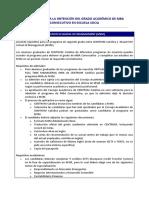 Requisitos Doblegrado Msm 2017